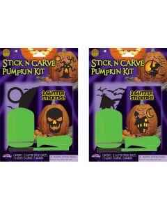 Glitter Stick 'n' Carve Pumpkin Kit PDQ