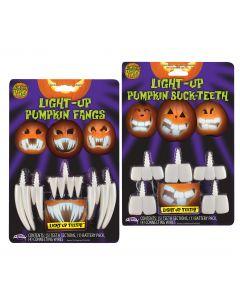 Light Up Pumpkin Teeth - Try Me! Blister Card