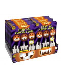 Light Up Pumpkin Teeth - Try Me! PDQ