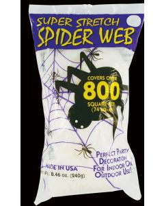 Super Stretch™ White Spider Web