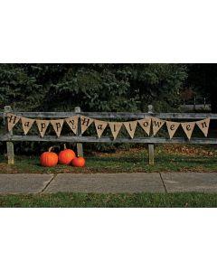 12' Burlap Halloween Banner